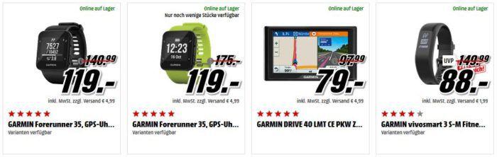 Media Markt Garmin FitnessTracker und Navis Tiefpreisspätschicht: z.B. GARMIN DRIVE 40 LMT CE PKW Zentraleuropa  für 79€ (statt 90€)