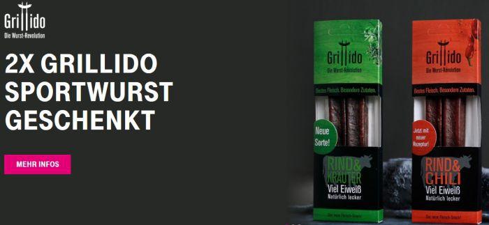 Nur für Telekom Kunden: 2x Grillido Sportswurst geschenkt