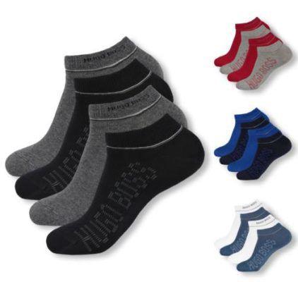 HUGO BOSS   4 Paar Herren Sneaker Socken für 26,99€