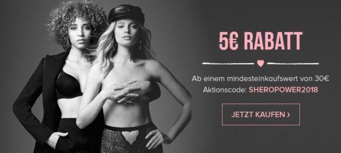 Hunkemöller Frauentag: 5€ Rabatt ab 30€