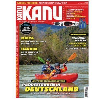 6 Ausgaben vom Kanu Magazin für 38,80€ + bis 40€ Gutschein