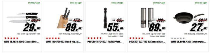 Media Markt Bestecksets, Wasser Karaffen, Peffermühlen zu Top Preisen z.B. ALFI Pallas Thermoskanne für 35€ (statt 43€)