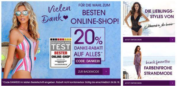 Lascana Sale bis zu 65% Rabatt + 20% extra Rabatt auf alles! + VSK frei ab 50€
