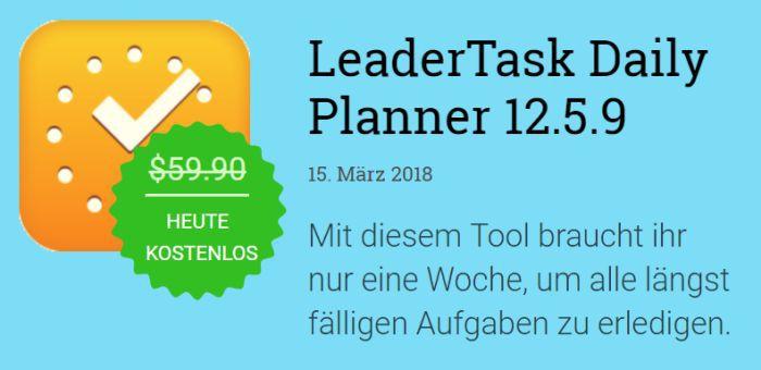 LeaderTask Daily Planner (Jahreslizenz, Windows) kostenlos