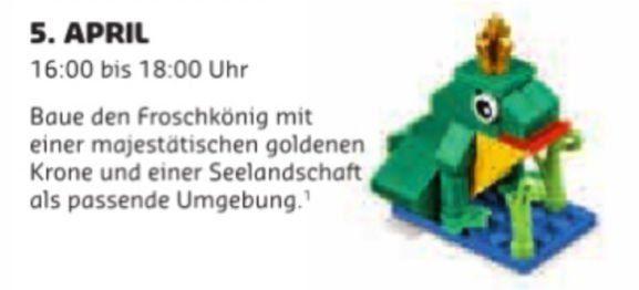 Gratis Lego Mini Bauaktion April – nur am 05.04 in teilnehmenden Lego Stores