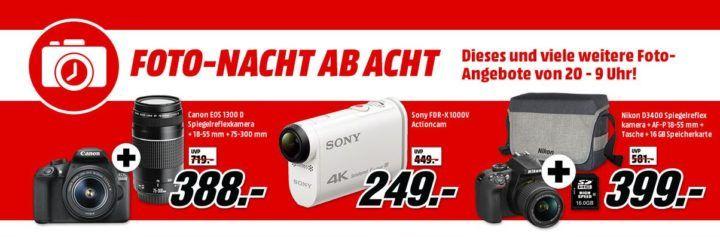 Media Markt Foto Late Night: z.B. ROLLEI 610 Action Cam 4K für 42€ (statt 60€)   ISY Cardreader für 1€ uvam.