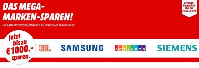 Media Markt Mega Marken Sparen: günstige Artikel von Samsung, JBL, Activeon und Siemens