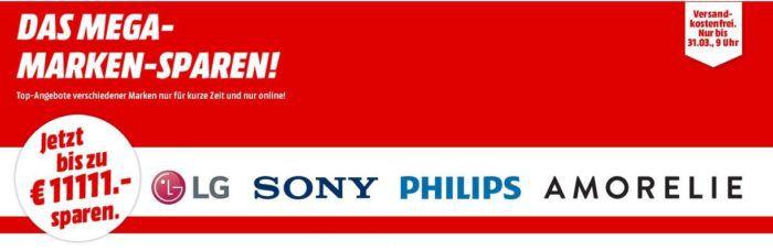 Media Markt Mega Marken Sparen: günstige Artikel von LG, Sony, Philips und Amorelie