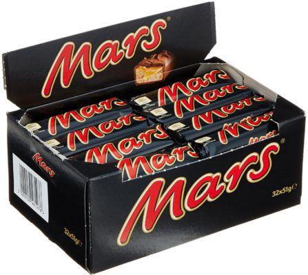 32er Box Mars Riegel je 51 g für 10,88€ – Prime