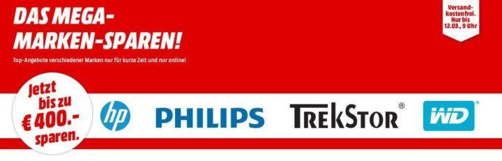 Media Markt Mega Marken Sparen: günstige Artikel von HP, Philips, Trekstor und WD