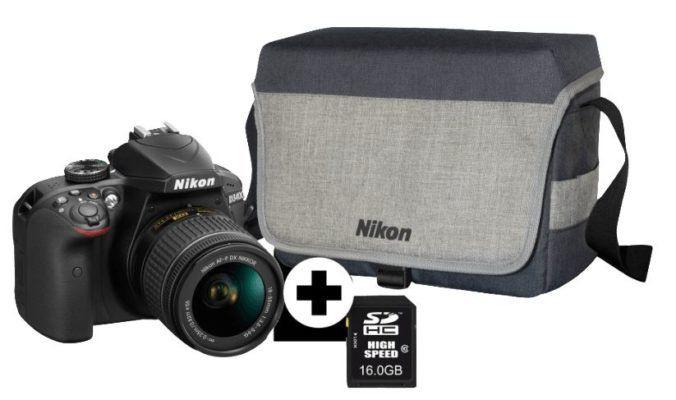 TOP! Nikon D3400 Kit   DSLR Kamera mit AF P 18 55 DX + Tasche + Speicherkarte für 333€ (statt 459€)