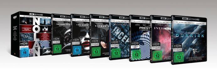 Nolan Collection 4K   Exklusiv + Digital Ultraviolet   (4K Ultra HD Blu ray + Blu ray) für 75€ (statt 130€)
