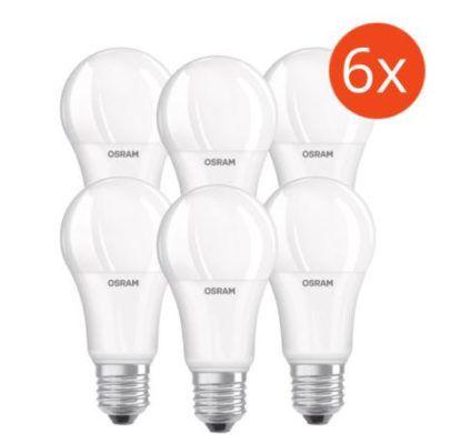 Osram LED BASE A100   E27 Birnen mit 14W im 6er Pack für 19,49€
