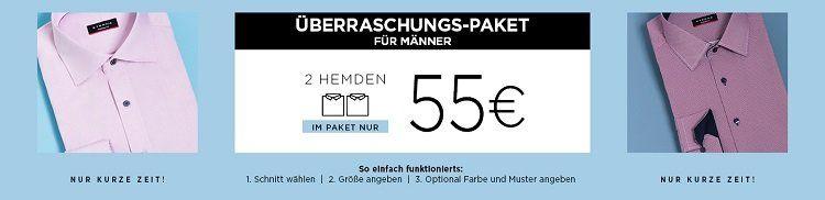 2 Eterna Hemden im Überraschungspaket für 55€