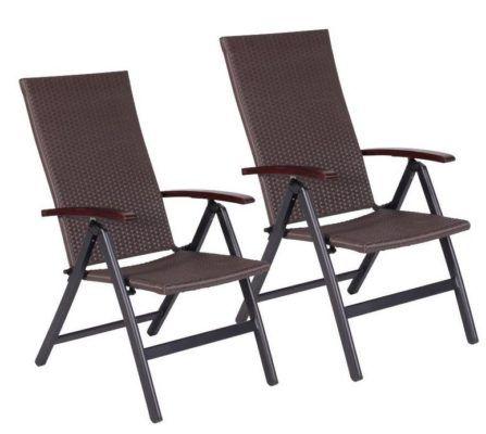Relax Polyrattan Gartenliegestuhl 2er Pack für 89,99€