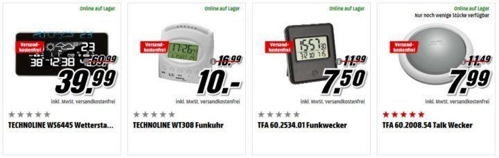 Media Markt Zeitumstellung: Funkwecker Radiowecker & Uhrenradios zu Top Preisen   z.B. TFA Cult Funkwecker statt 25€ für 7,50€