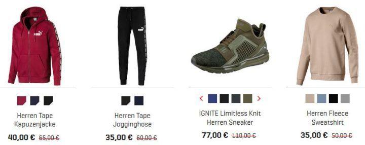 PUMA mit 30% extra Vatertags Rabatt auf Schuhe & Fashion   auch im 50% Sale