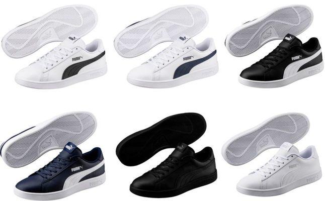 Puma Smash v2 L   Herren Sneaker in 4 Farben bis 47 für je 29,95€