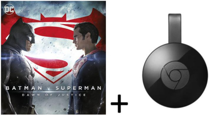 Google Chromecast 2 + HD Stream:  Batman v Superman: Dawn of Justice für 27,99€