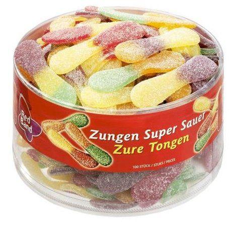 600 Stück (6 Dosen) Red Band Fruchtgummi Zungen Super Sauer für 13,79€ (statt 25€)