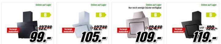 MM Preishammer: Respekta Dunstabzugshauben ab 99€