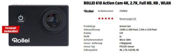 Media Markt Foto Late Night: z.B. ROLLEI Sportsline 65 Digitalkamera 5 Megapixel, TFT Display für 29€