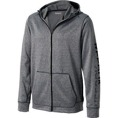 Vorbei! Reebok Herren Workout Polyfleece Graphic   Kapuzenjacke in grau o. schwarz ab 16€ (statt 46€)