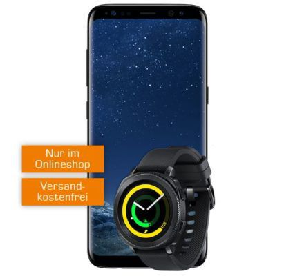 Samsung S 8 & Gear Sport Smartwatch für 49€ + Vodafone AllNet Flat + 2GB für 24,99€ mtl.