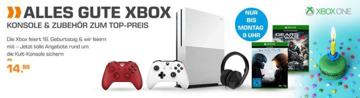Saturn: XBox Konsolen & Zubehör zu Top Preisen   z.B. Forza Horizon 3 für 24,99€