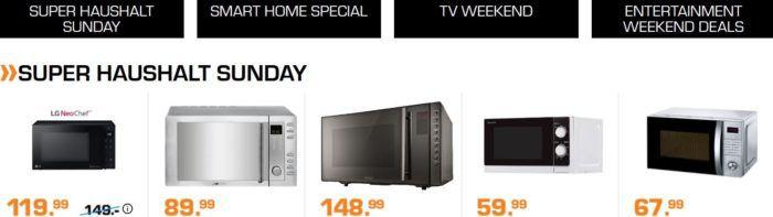 Saturn Weekend Deals: günstige Haushaltsartikel, Fernseher und Smarthome Artikel