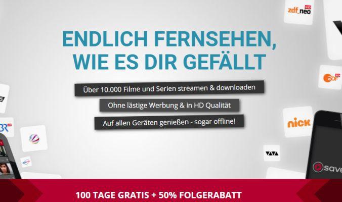 100 Tage Save.TV gratis (anschließend 50% Rabatt auf den regulären Preis)