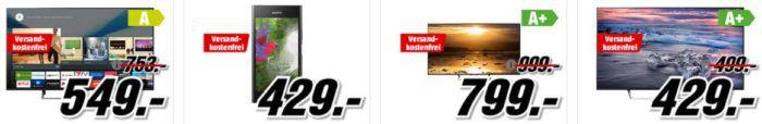 Media Markt Mega Marken Sparen: günstige Artikel von LG, Samsung, SONY und Grundig