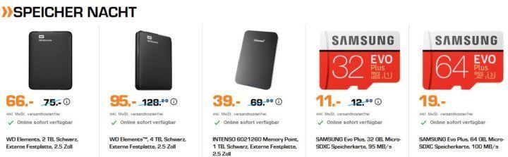 SATURN Late Night Notebook & Speicher Nacht: z.B. LEXAR JumpDrive S57 USB Stick 64GB für 14€