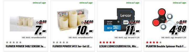 MM Mehr kaufen mehr Sparen: Kleinartikel ab 15€ VSK frei   z.B. LEXAR 64 GB Micro SDHC Karte für 25€ (statt 40€) o.  ISY ICR 2100 1 Cardreader ab 1€