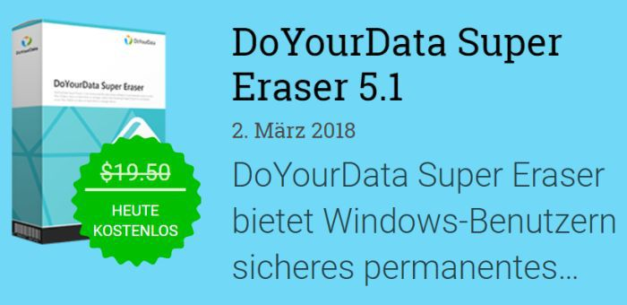 DoYourData Super Eraser 5.1 (Vollversion, Windows) kostenlos