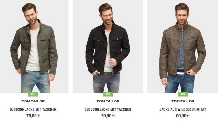 Top! Tom Tailor mit 20% extra Rabatt auf Hosen & Jacken