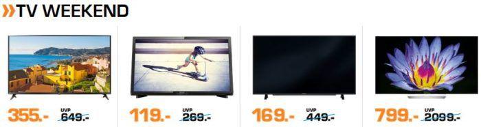 Saturn Weekend Sale: günstige TVs, Kopfhörer, eBikes und Haushaltsgeräte