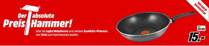 MM Preishammer: günstige TEFAL Pfannen ab 15€   z.B. TEFAL Hard Titanium Plus Bratpfanne für 24€ (statt 32€)