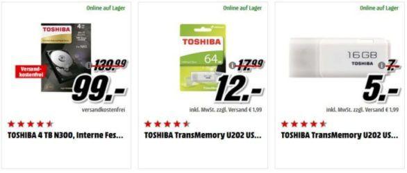Media Markt Toshiba Speicher Tiefpreisspätschicht: TOSHIBA 4 TB Canvio für Desktop für 88€ (statt 129€)