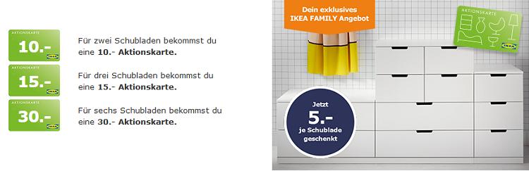 Ikea Family: 5€ Geschenkkarte pro Schublade beim Kommodenkauf