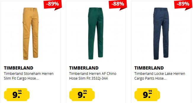 Timberland Thompson Lake und andere Herren Chinos u. Cargo Hosen Restgrößen ab je 9,99€