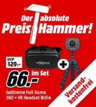 GOXTREME Full Dome 360 Action Cam + micro Stativ + VR Headset für 66€