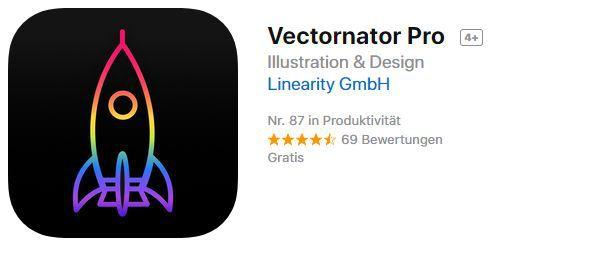 Vectornator Pro (iOS) gratis statt 8,99€