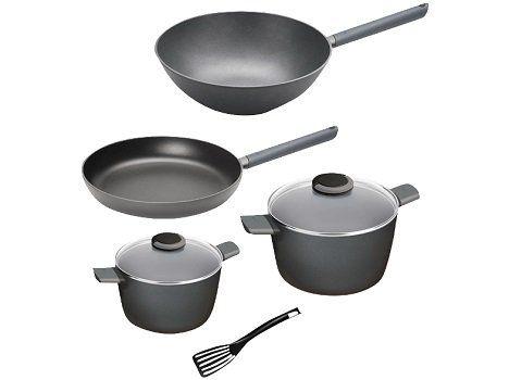 Top! WOLL Just Cook Topf  und Pfannenset (Aluminiumguss) 5 teilig für 99€ (statt 160€)