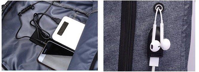 Outdoor Rucksack mit Laptopfach und USB Port für 15,66€