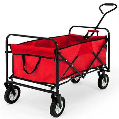 Faltbarer Bollerwagen mit Innenplane für 38,65€ (statt 47€)