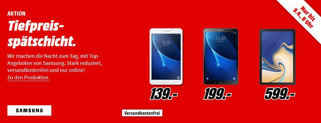 Media Markt Samsung Tiefpreisspätschicht : günstige Phones, Tablets, Smartwatches und Speicher & Masterpass Rabatt