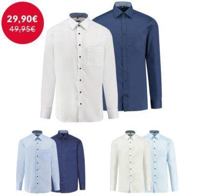 Eterna Herren Hemden Modern Fit und Slim Fit für je 29,90€