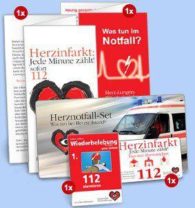 Herznotfall Set der Deutschen Herzstiftung komplett kostenlos
