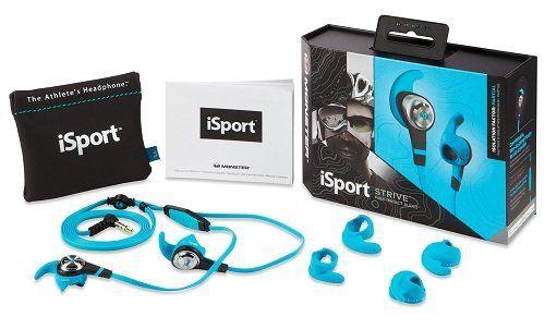 Monster iSport STRIVE InEar Sport Kopfhörer mit ControlTalk, blau für 19,99€ (statt 31€)